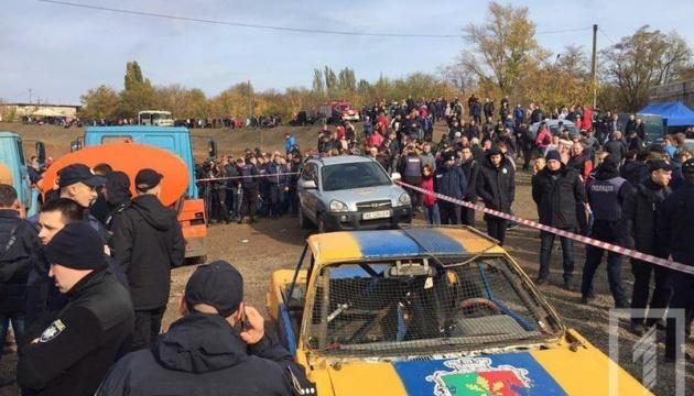 На гонке в Кривом Роге авто влетело в толпу - пострадали дети