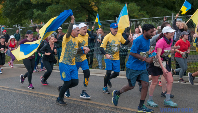 Ukrainian servicemen run Marine Corps Marathon in US. Photos, video