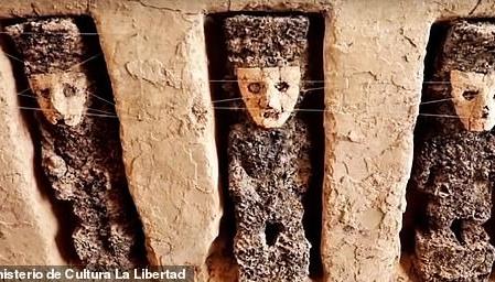 800-летних идолов в масках нашли в Перу