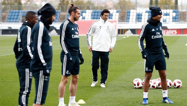Сантьяго Солари провел первую тренировку с футболистами