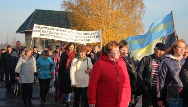 Гірники Волині й Львівщини приєдналися до протестів луганських шахтарів