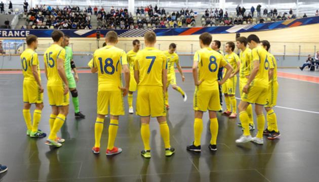 Футзал: сборная Украины сыграла вничью в первом спарринге с Францией