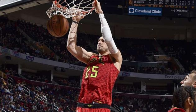 Баскетбол: украинец Лень реализовал 9 из 9 бросков в матче НБА против