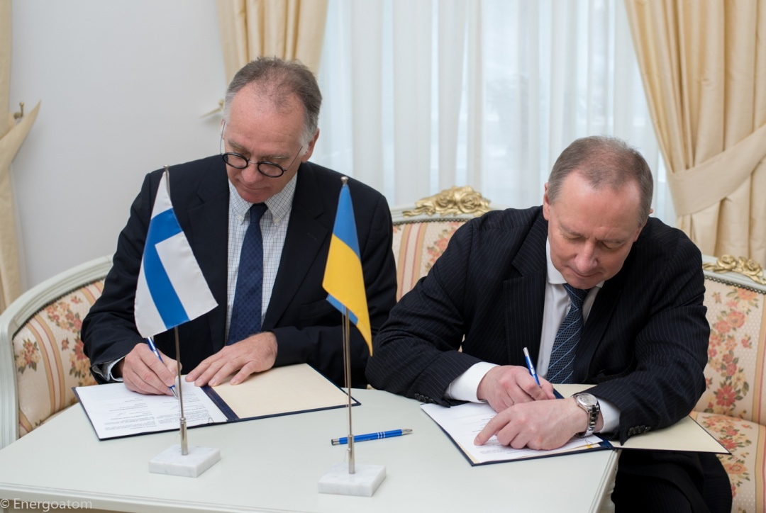 Energoatom signs memorandum on cooperation with Finland's