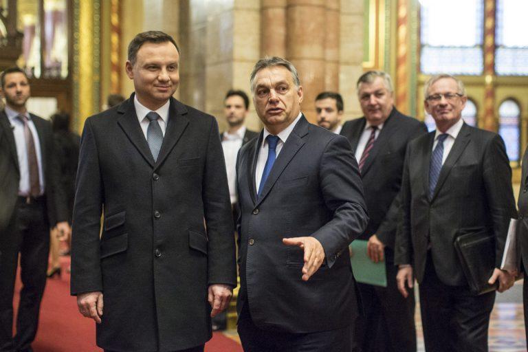 Президент Польщі Анджей Дуда та прем'єр Угорщини Віктор Орбан