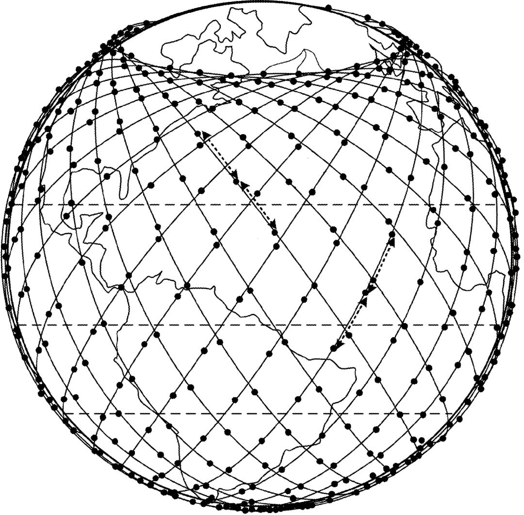 Мережа супутників навколо Землі // Фото: SpaceX
