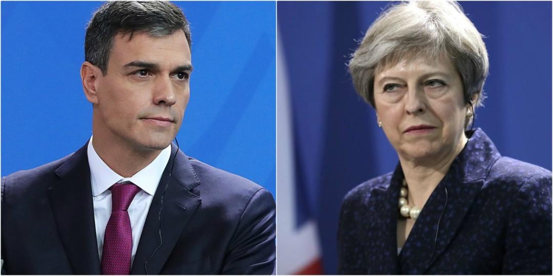 Прем'єр-міністр Іспанії Педро Санчес та прем'єр-міністр Великої Британії Тереза Мей