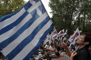 Митинг в Афинах: Пострадали 10 полицейских, двое человек госпитализированы
