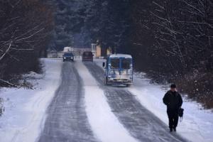 На Днепропетровщине из-за тумана и гололеда десяток авто попали в ДТП