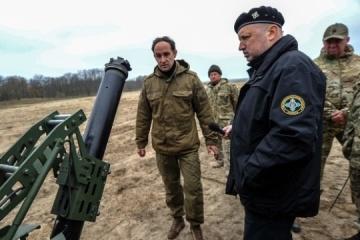图尔奇诺夫检查了新的移动迫击炮