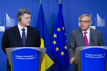 ポロシェンコ大統領、ユンカー欧州委員長との会談で、財政支援につき協議