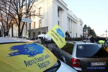 活動家は、自動車関税引き下げ法採択に不満