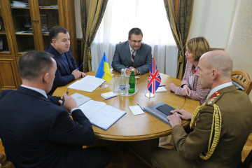 Stepán Poltorak y Judith Gough discuten la cooperación bilateral entre Ucrania y el Reino Unido