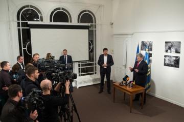 ポロシェンコ大統領、ウクライナ東部「偽選挙」に対するG7やEUの対応を期待