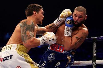 ボクシング:統一王者オレクサンドル・ウシク選手、トニー・ベリュー選手にKO勝ち