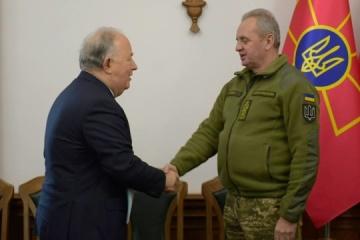 Muzhenko y Apakan discuten la situación en Donbás