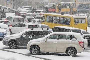 Kyjiw: Fast 300 Unfälle durch Schnee