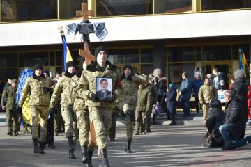 Loutsk dit adieu à son combattant mort sur le champ de bataille
