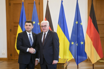 Groysman, Steinmeier discuss sanctions policy and Nord Stream 2