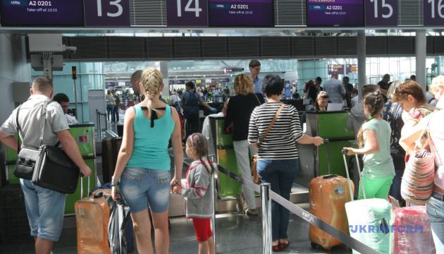 Пассажиропоток через аэропорты Украины вырос на 24%