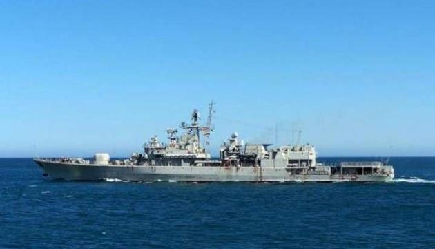 У границы Латвии вновь заметили военный корабль РФ