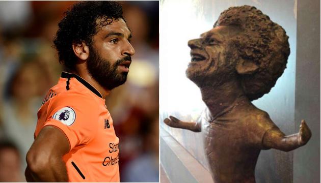 Мохаммеда Салаха увековечили в скульптуре, которая мало напоминает оригинал