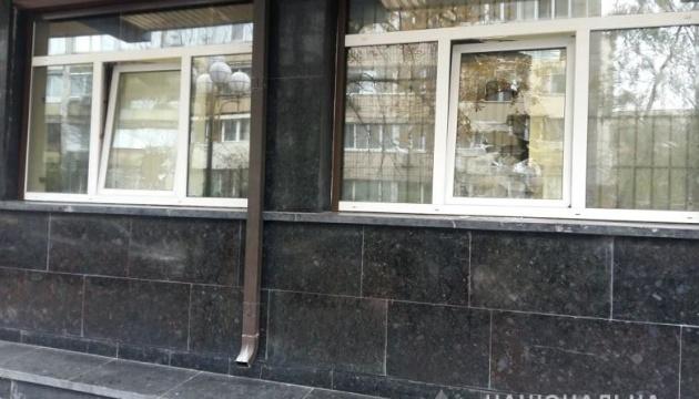 В полиции Киева дает пояснения винничанин, разбивший стекла в здании ГПУ