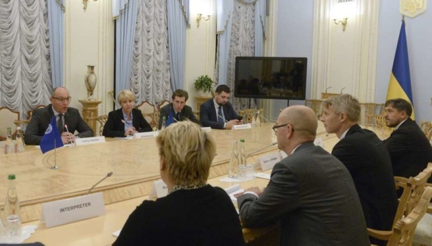 Ukrainian parliament speaker meets with IMF experts