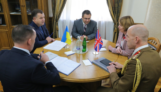 Ukrainian defense minister, UK ambassador discuss bilateral defense cooperation between two countries