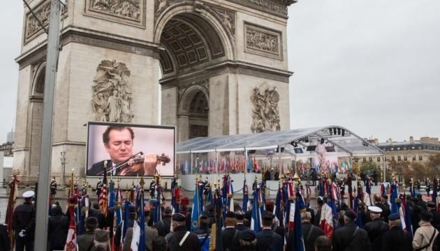 Путін приїхав останнім і окремо на церемонію до Тріумфальної арки