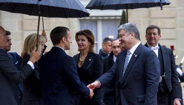 Poroschenko nimmt an Gedenkfeier zum 100. Jahrestag des Endes des Ersten Weltkriegs teil