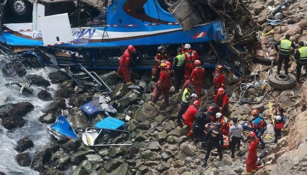 У Перу автобус із юнацькою футбольною командою впав у прірву, є загиблі