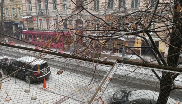 Erster Schnee in Kyjiw - Video