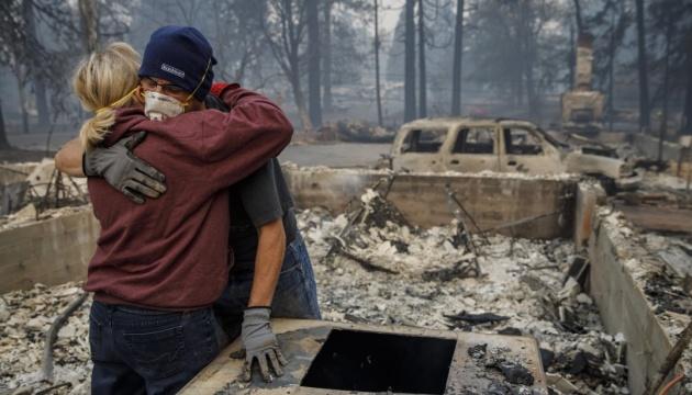 Після лісової пожежі Північній Каліфорнії загрожують повінь та зсуви