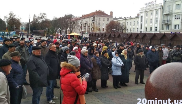 Жители Тернополя снова протестуют против подорожания проезда