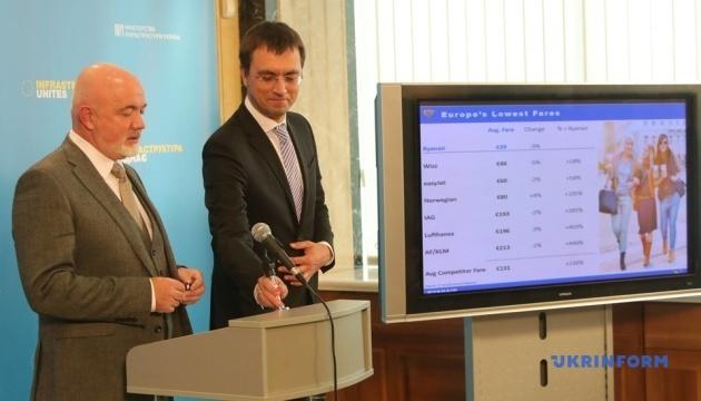 Омелян прогнозирует заход Ryanair в 4-5 региональных аэропортов в следующем году