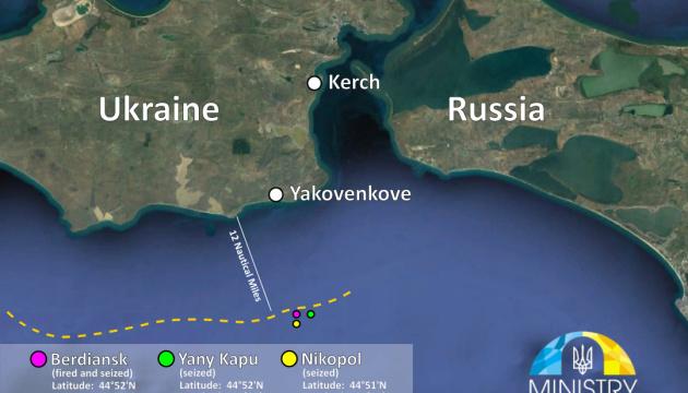 Росія знехтувала імунітетом українських військових кораблів - МінТОТ