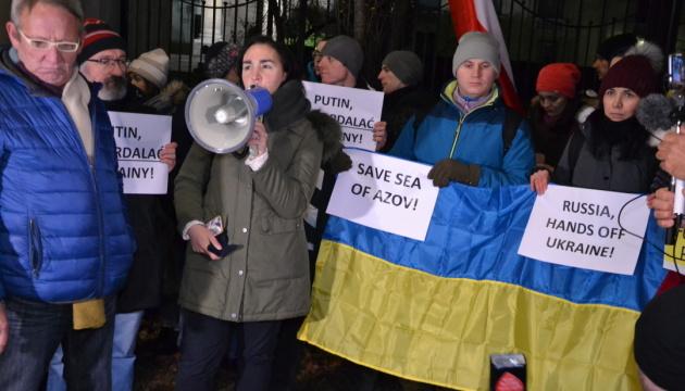 Українці в Польщі вимагали від РФ звільнити українських моряків