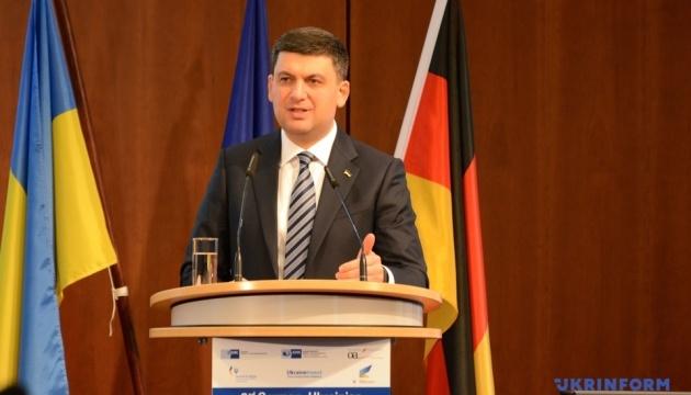 フロイスマン首相、独にて、戒厳令がウクライナ・ビジネスに影響のないことを主張
