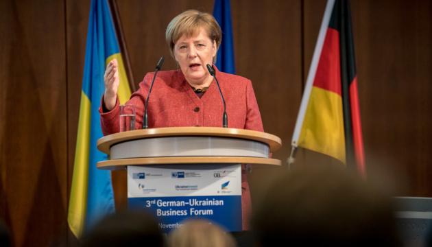 メルケル独首相、ウクライナ問題に対するドイツの態度を説明