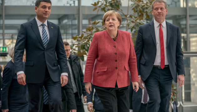 フロイスマン宇首相、メルケル独首相とアゾフ問題を協議