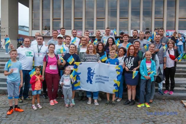 Волонтери та ветерани АТО після акції
