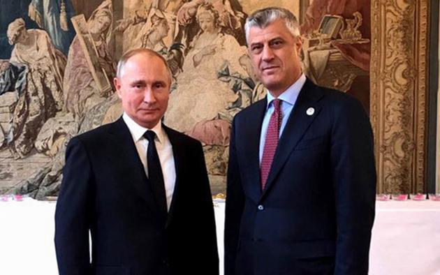 Володимир Путін, Хашим Тачі / Фото: HashimThaciRKS / Twitter