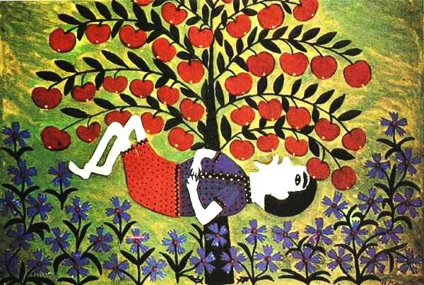 Лежень ліг під яблунею, щоб яблуко саме упало в рот, а воно його в лоб-1968