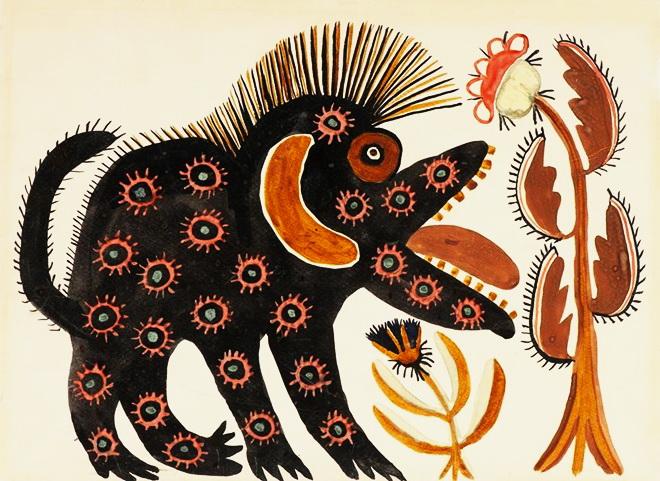 Черный зверь, 1936. И зверье идет и дремлет себе, есть ищет, то и наряды не в уме