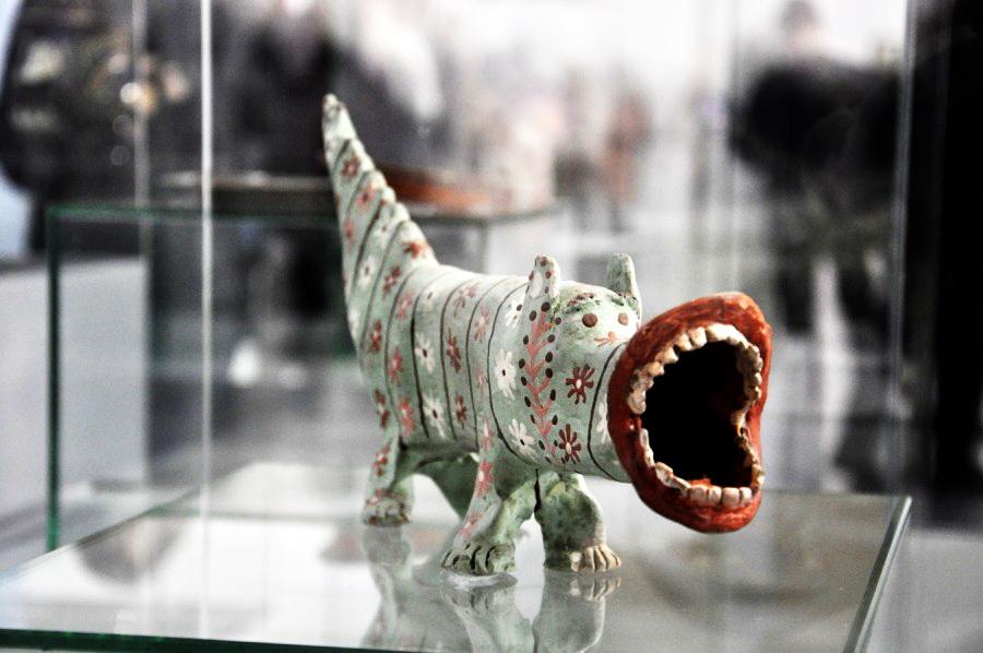 Керамическая скульптура Крокодил