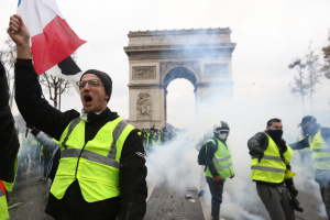 """В Париже арестовали 12 участников акции """"желтых жилетов"""""""