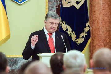Whole of Ukraine waiting for release of sailors from Russian captivity - Poroshenko