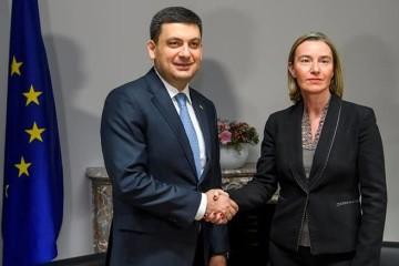 Groysman comienza una visita a Bruselas. Se reúne con Mogherini (Fotos)