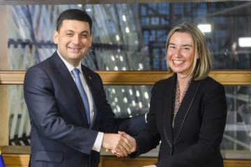 Mogherini: La Unión Europea apoya los ambiciosos planes de Ucrania